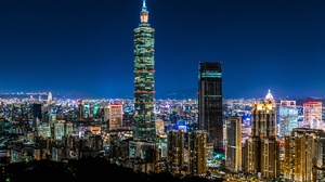 Building City Night Skyscraper Taipei Taipei 101 Taiwan 5409x3678 Wallpaper