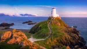 Island Lighthouse Sea 2000x1330 Wallpaper