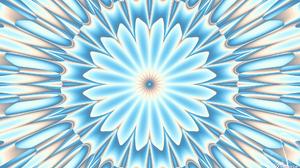 Abstract Artistic Blue Digital Art Kaleidoscope Pattern White 1920x1080 Wallpaper