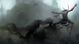 Creepy Creature Horns Shadow 1920x827 Wallpaper