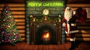 Chimney Christmas Christmas Tree Merry Christmas Santa 2560x1440 Wallpaper