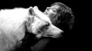 Mylene Farmer French Singer Redhead Wolf Closed Eyes 1920x1080 Wallpaper