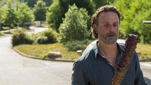 Rick Grimes Baseball Bat Baseball Bats Open Mouth Shirt Beards Men Beard The Walking Dead Twd TV Ser 4896x3264 Wallpaper