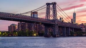 City Bridge Architecture Williamsburg Bridge New York City USA Water Cityscape Construction 1920x1279 Wallpaper