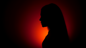 Women Silhouette Simple Background 2560x1440 Wallpaper