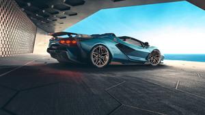 Blue Car Car Convertible Lamborghini Lamborghini Sian Roadster Roadster Sport Car Supercar 3840x2160 Wallpaper