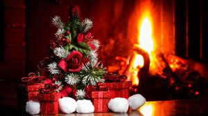 Christmas Christmas Ornaments Fire 2048x1363 Wallpaper