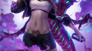 Akali League Of Legends League Of Legends Video Games Video Game Characters Fan Art Video Game Girls 2958x4000 Wallpaper