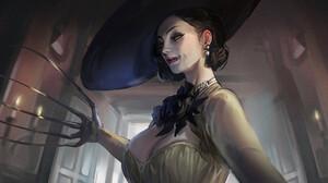 Video Games Video Game Art Resident Evil 8 Village In Shoo Lady Dimitrescu Horror Women Creature Cla 1920x1260 wallpaper