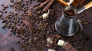 Chocolate Coffee Coffee Beans Drink Still Life 2048x1367 Wallpaper