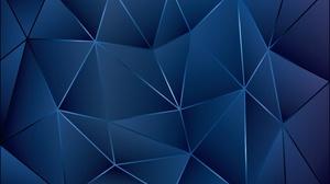 Artistic Blue Digital Art Geometry Triangle 3500x2250 Wallpaper