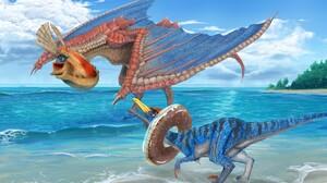 Creature Ocean Velocidrome Monster Hunter Yian Kut Ku Monster Hunter 1920x1080 Wallpaper
