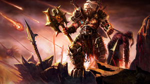 Armor Axe Barbarian Diablo Iii Demon Diablo Iii Warrior 1920x1200 Wallpaper