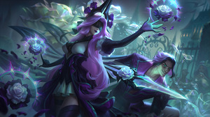 Withered Rose Rose League Of Legends Riot Games Talon League Of Legends Talon Syndra Syndra League O 7680x4320 wallpaper