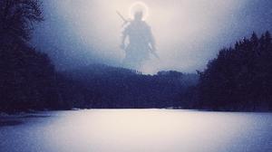 Knight Snow Winter Halo 2560x1440 Wallpaper