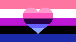 Genderfluid LGBTi Prideflag Flag Heart Design Lines Colorful Digital Art 1920x1080 Wallpaper