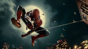 The Amazing Spiderman Moon Night Jump 1920x1080 Wallpaper