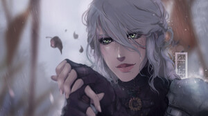 Ciri Portrait Cirilla Digital Art Digital Painting Rain Fan Art Artwork Cirilla Fiona Elen Riannon 1920x1080 Wallpaper