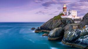 Peter Krocka Landscape Lighthouse Ireland Sky Water Cliff Clouds Horizon Rocks 2048x1365 Wallpaper