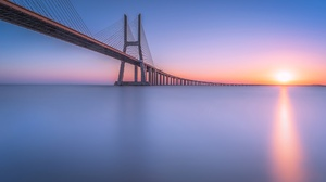 Bridge River Portugal Lisbon Tagus River 2048x1342 Wallpaper