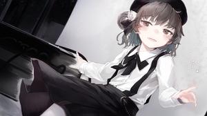 Hatoba Tsugu Brunette Short Hair School Uniform Smiling Anime Girls 1920x1080 Wallpaper