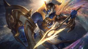 Sentinel Pantheon League Of Legends Pantheons Riot Games League Of Legends Digital Art 4K Warrior 7680x4320 Wallpaper