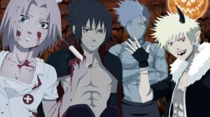 Halloween Kakashi Hatake Naruto Uzumaki Sakura Haruno Sasuke Uchiha 2200x1629 Wallpaper