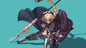 Blonde Blue Eyes Jeanne D 039 Arc Fate Series Lance Long Hair Ruler Fate Apocrypha Ruler Fate Grand  3147x2389 Wallpaper