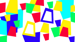 Blue Colorful Digital Art Geometry Green Shapes Yellow 1920x1080 Wallpaper