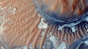 Mars Planet Landscape Aerial View 2560x1600 Wallpaper