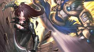 Garen League Of Legends Katarina League Of Legends 3507x2480 Wallpaper