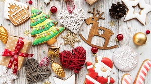 Christmas Christmas Ornaments Cookie Gingerbread 3974x3424 Wallpaper