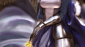 Saber Fate Series Anime Girls Fan Art Looking At Viewer Armor Cape Sword Girls With Swords Fantasy A 2339x3508 Wallpaper