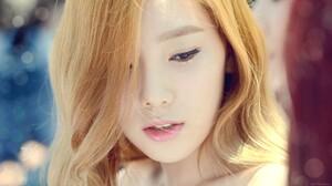 Asian Kim Taeyeon Korean Women Singer K Pop Blonde Closeup Eyeliner 1920x1080 Wallpaper