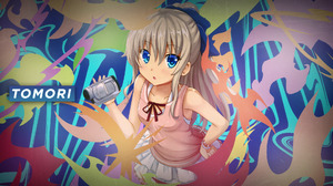 Anime Girls Blonde Blue Eyes Camera Charlotte Anime Tomori Nao Abstract Colorful Looking At Viewer 1920x1080 Wallpaper