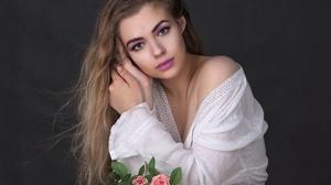 Woman Girl Long Hair Blonde Lipstick 1920x1560 Wallpaper