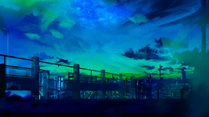 Night Sky Cat 1920x1080 Wallpaper