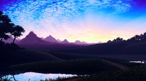Blue Lake Landscape Pixel Sky Water 1920x1079 Wallpaper
