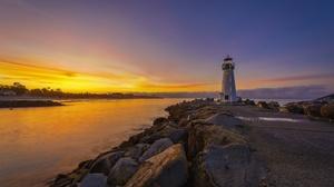 Rock Ocean Dawn Santa Cruz 4096x2734 Wallpaper