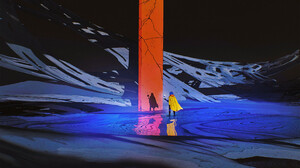 Artwork Digital Art Space Monolith Futuristic Science Fiction 2109x2700 Wallpaper