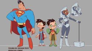 Superman Robin Dc Comics Steel Dc Comics Superboy Jon Kent Damian Wayne Boy Woman Man Concept Art 2048x1200 Wallpaper