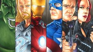 Black Widow Captain America Hawkeye Hulk Iron Man Thor 4174x3249 Wallpaper