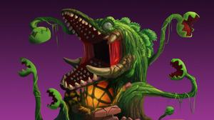 Godzilla Biollante Humor Digital Art Kaiju Movies Gradient Creature 1280x960 wallpaper