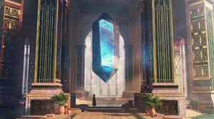 Oliver Beck Digital Art Fantasy Art Palace Crystal Ornate 1920x1037 Wallpaper