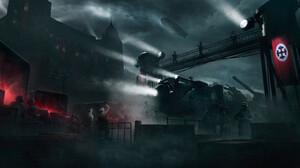 War Digital Art Castle Train Train Station Night 2200x1192 Wallpaper