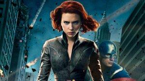 Black Widow Captain America Chris Evans Natasha Romanoff Scarlett Johansson 2150x1209 Wallpaper