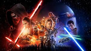Star Wars Episode Vii The Force Awakens Kylo Ren Han Solo Rey Star Wars Chewbacca R2 D2 Millennium F 2560x1440 Wallpaper