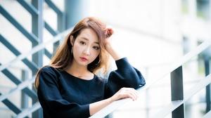 Asian Brunette Depth Of Field Girl Model Woman 4000x2668 Wallpaper