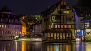 City Germany Building River City Lights Night 1920x1162 Wallpaper