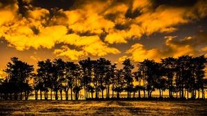 Cloud Nature Silhouette Sunset Tree 2048x1143 Wallpaper